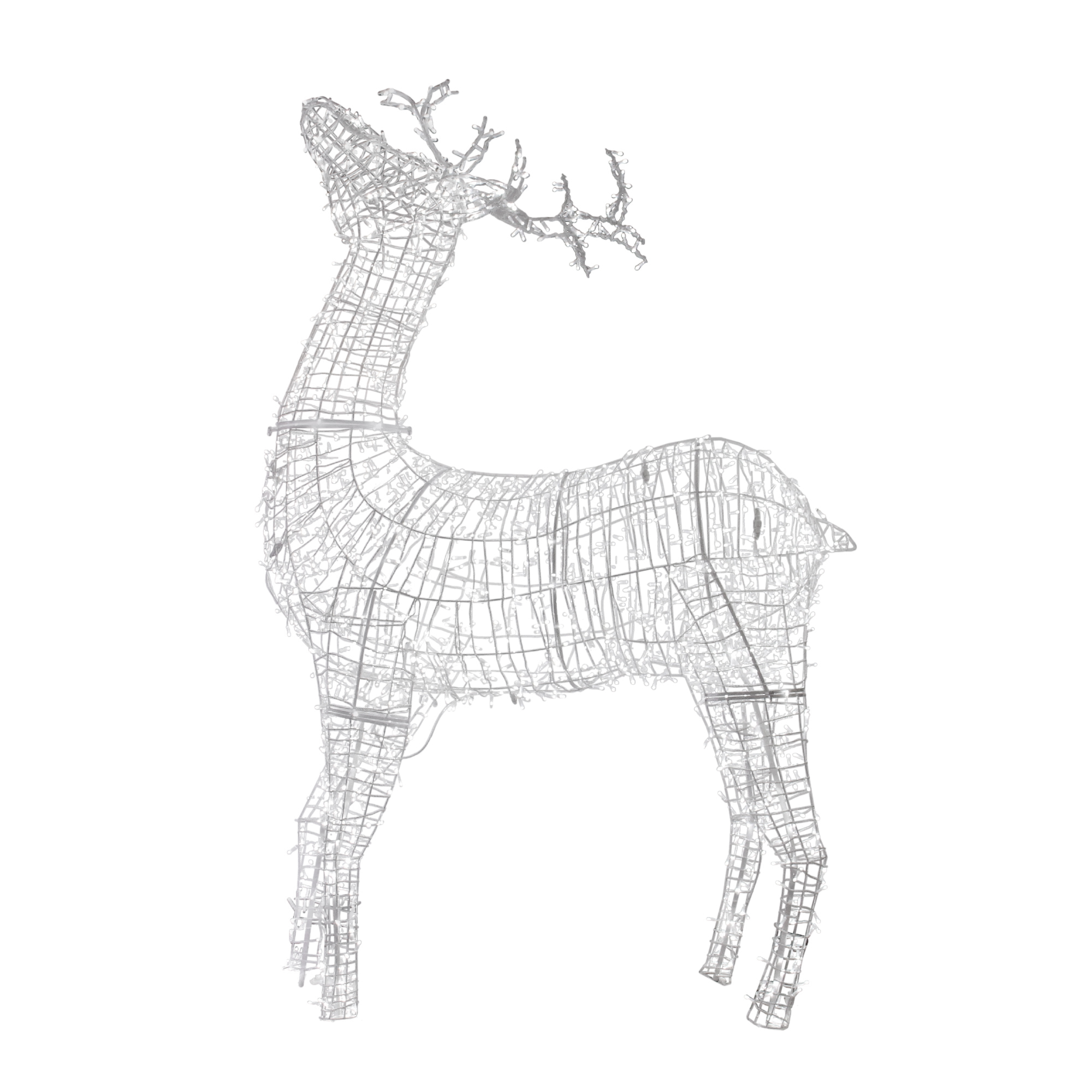 Northlight 9 5 Commercial White Reindeer Lighted