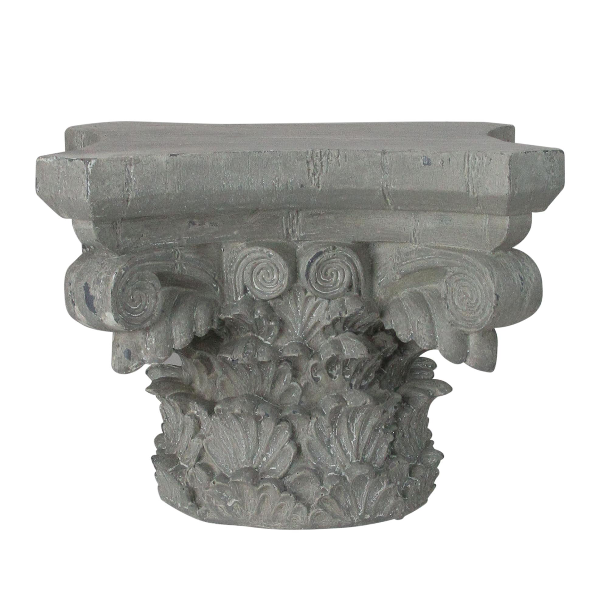 Roman 9 5 Small Gray Weather Finished Decorative Pedestal