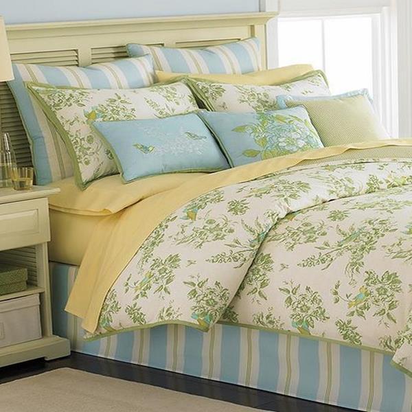 Martha Stewart Bluebird Garden 6 Piece Queen Comforter Set ... on Martha Stewart 6 Piece Patio Set id=88374
