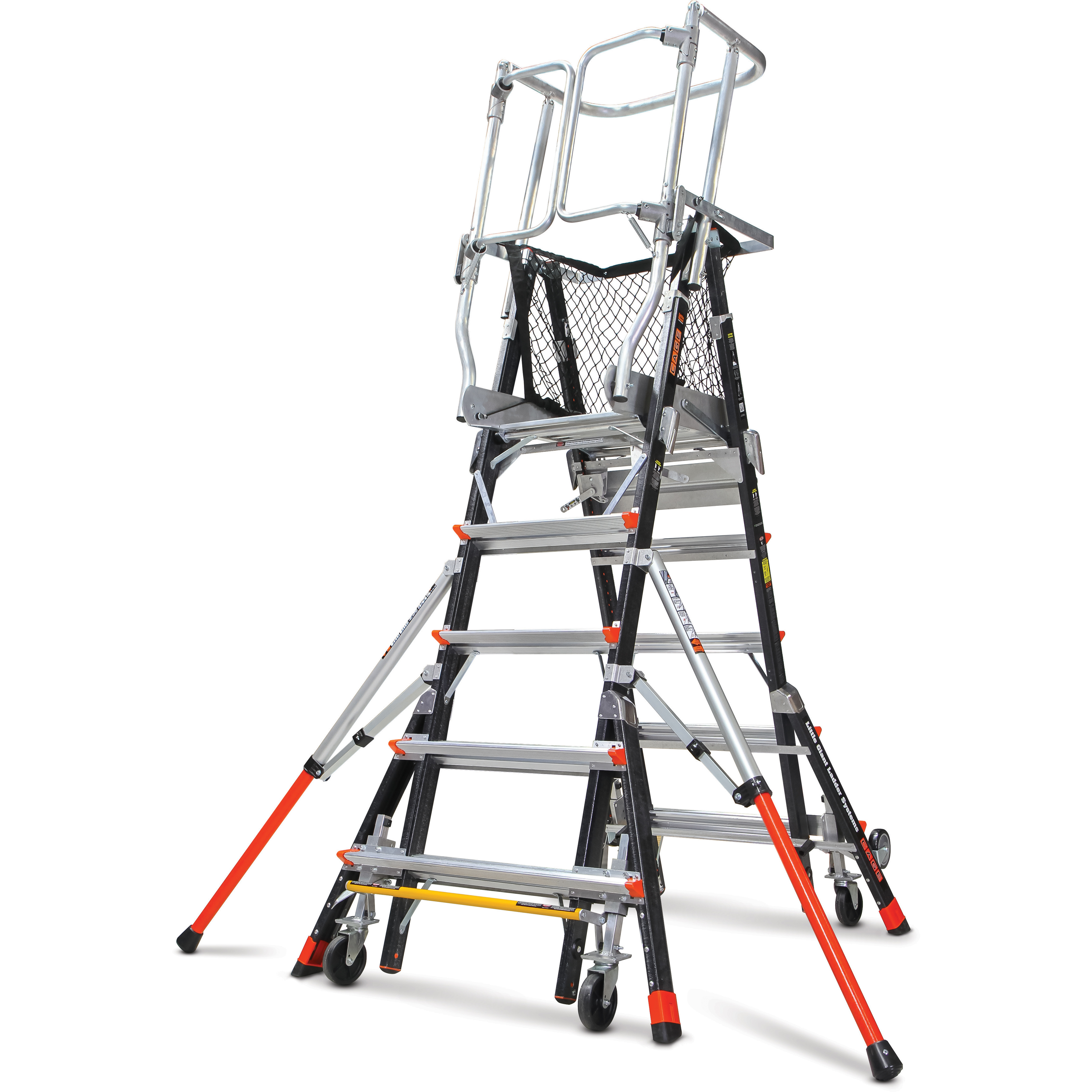 Little Giant 240 Aerial Safety Cage Ext Ladder 5 9