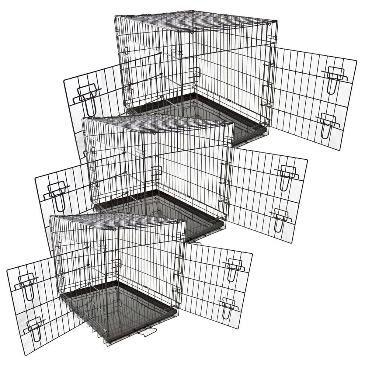 Metal Folding Dog Cage Crate Kennel Home Pet Cat Portable