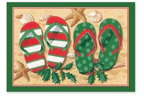 Tropical Holiday Flip Flop Sandals Christmas Boxed