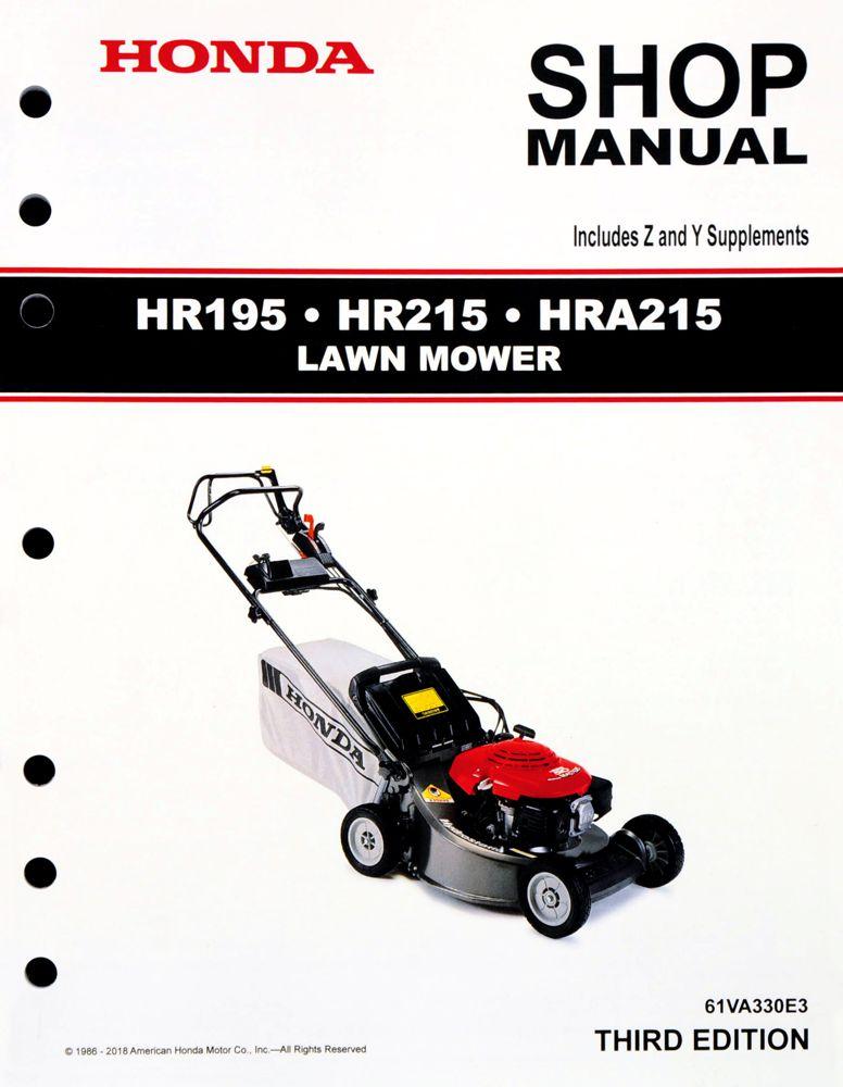 Hr195 Hr215 Hra215 Lawn Mower Manual