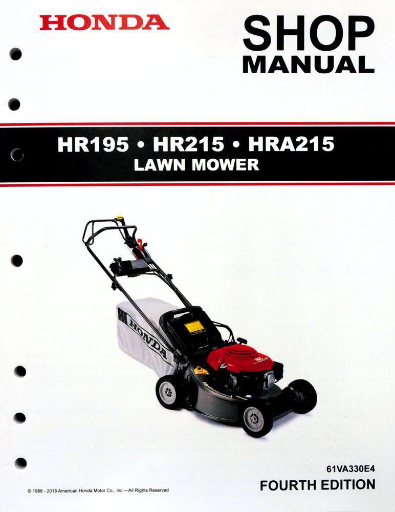 Hr195 Hr215 Hra215 Lawn Mower