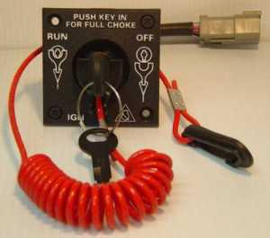 BRP JohnsonEvinrude Single Engine Key Switch Kit 0176408