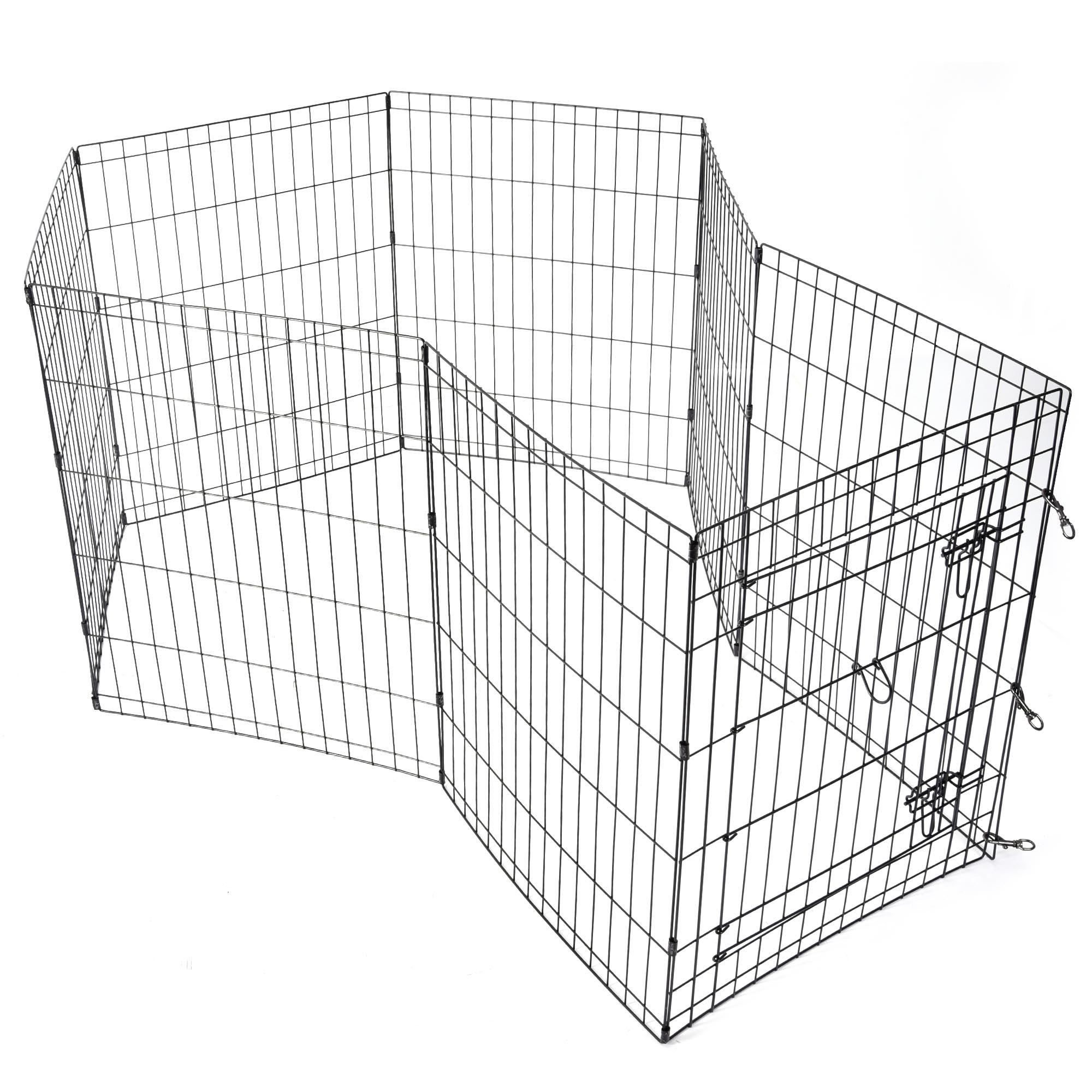 24 30 36 42 48 Dog Playpen Metal Wire Crate Pet Puppy
