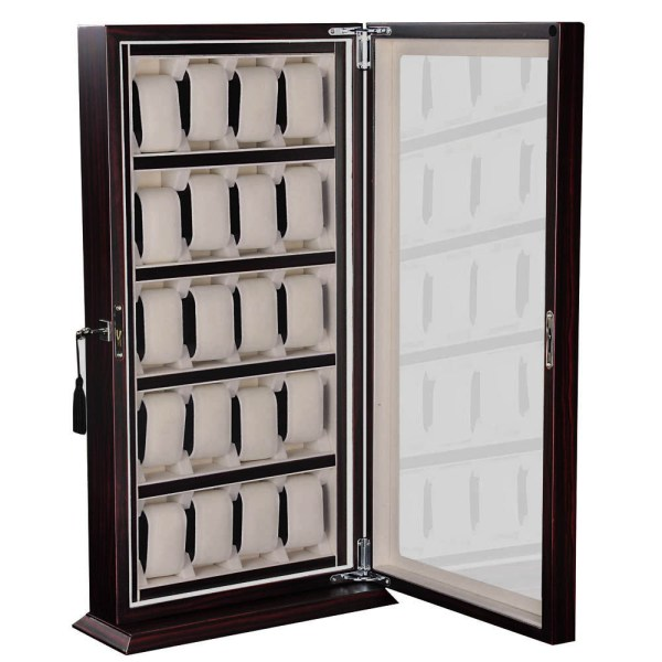 6 10 12 20 24 Watch Display Case Wooden Glass Top Jewelry ...
