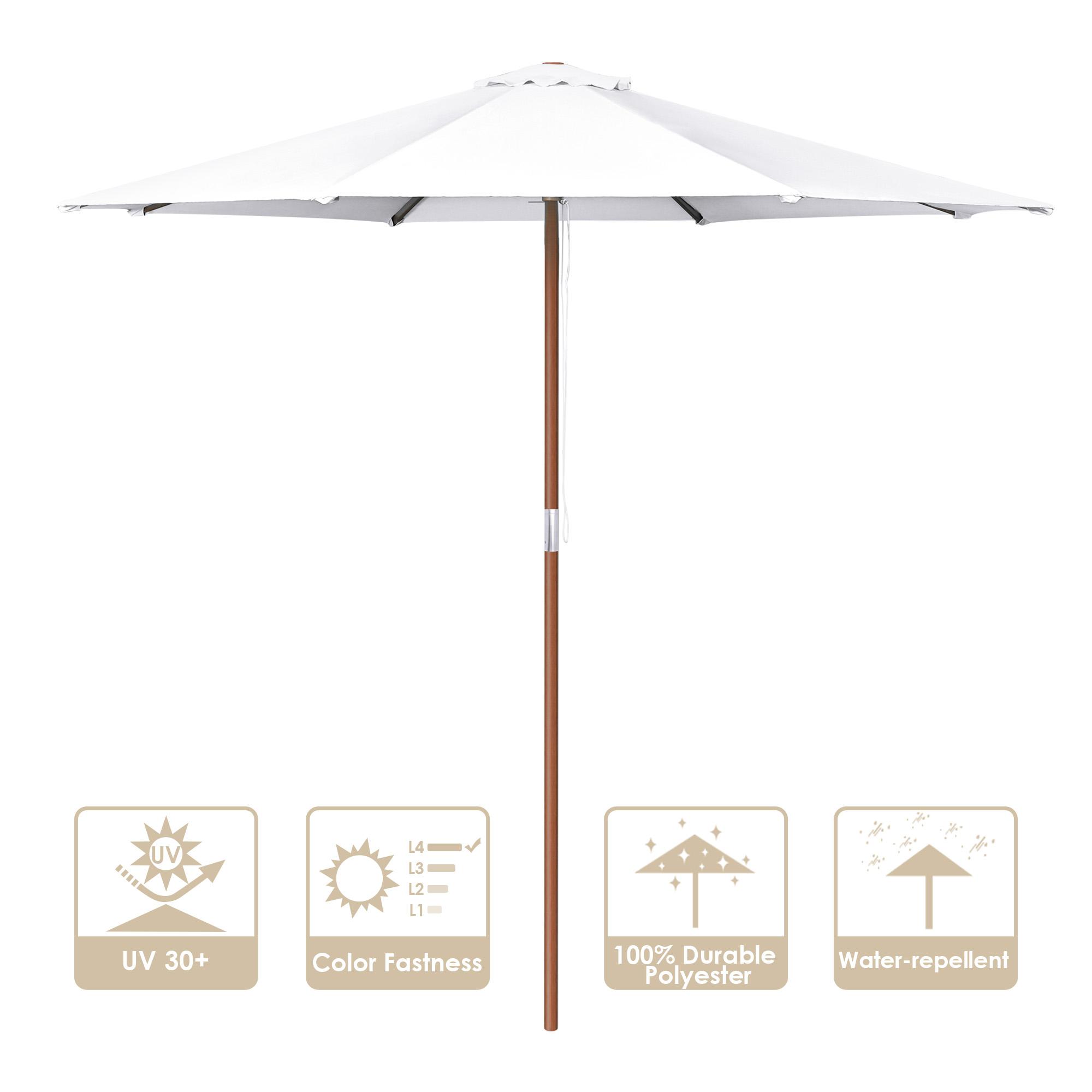 8 9 13 outdoor patio wood umbrella
