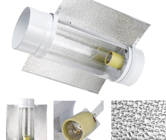 6 Air Cooled Cool Tube Wing Reflector Hood For 400w 250w Hps Mh Grow Light Tent 640671032766 Ebay