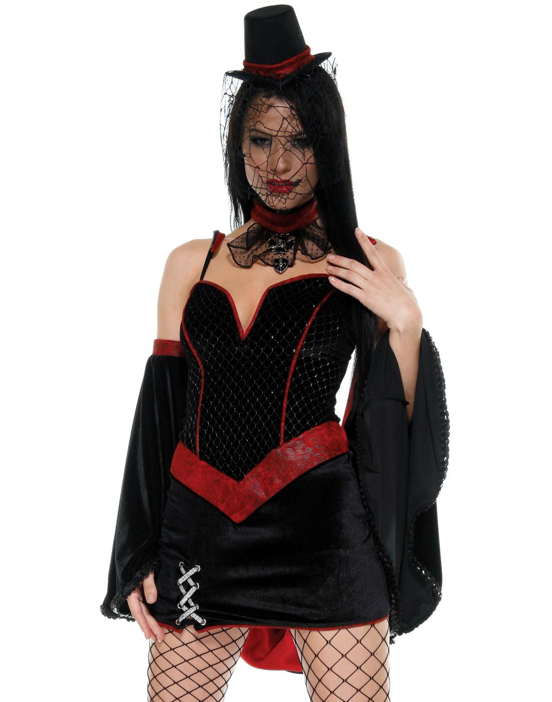 Gothic Glamy Vampire Velvet Steam Punk Womens