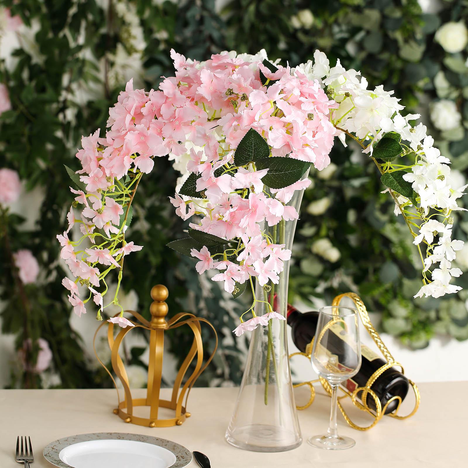4 Stems 41 Tall Silk Hydrangea Artificial Flowers Wedding Party Centerpieces Ebay