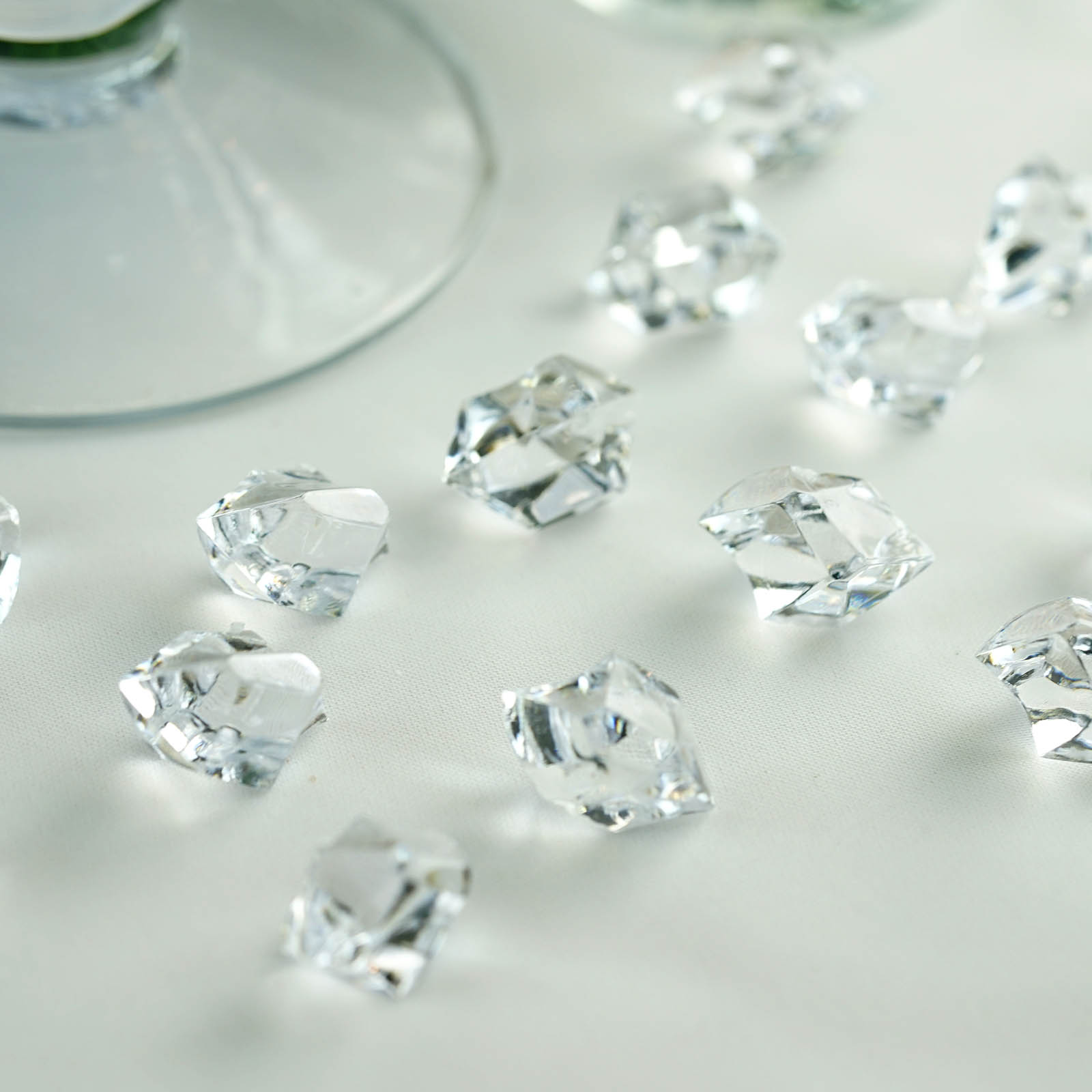 300 Acrylic Ice Crystal Like Pieces Wedding Centerpieces