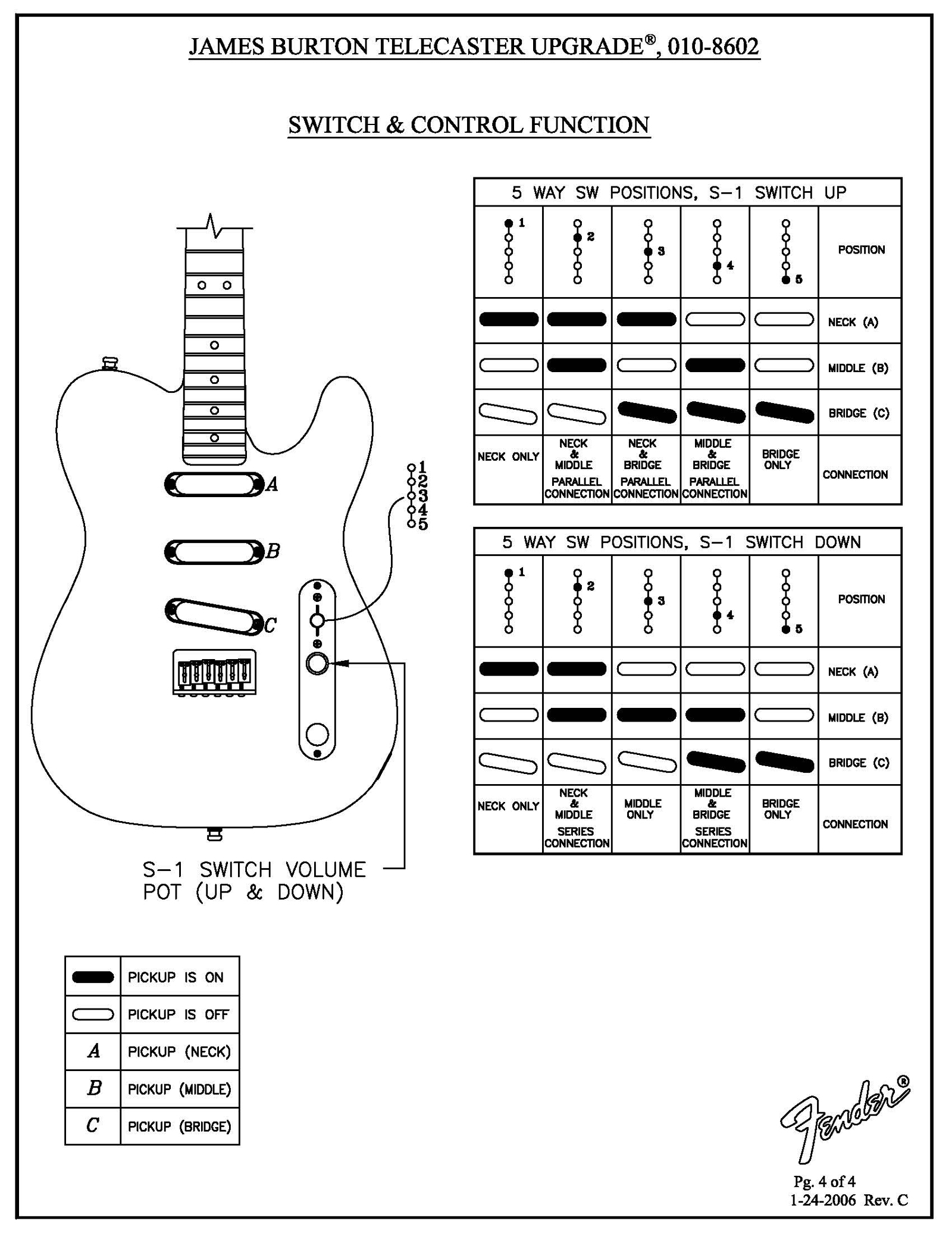 Fender 4 Way Switch Schematic