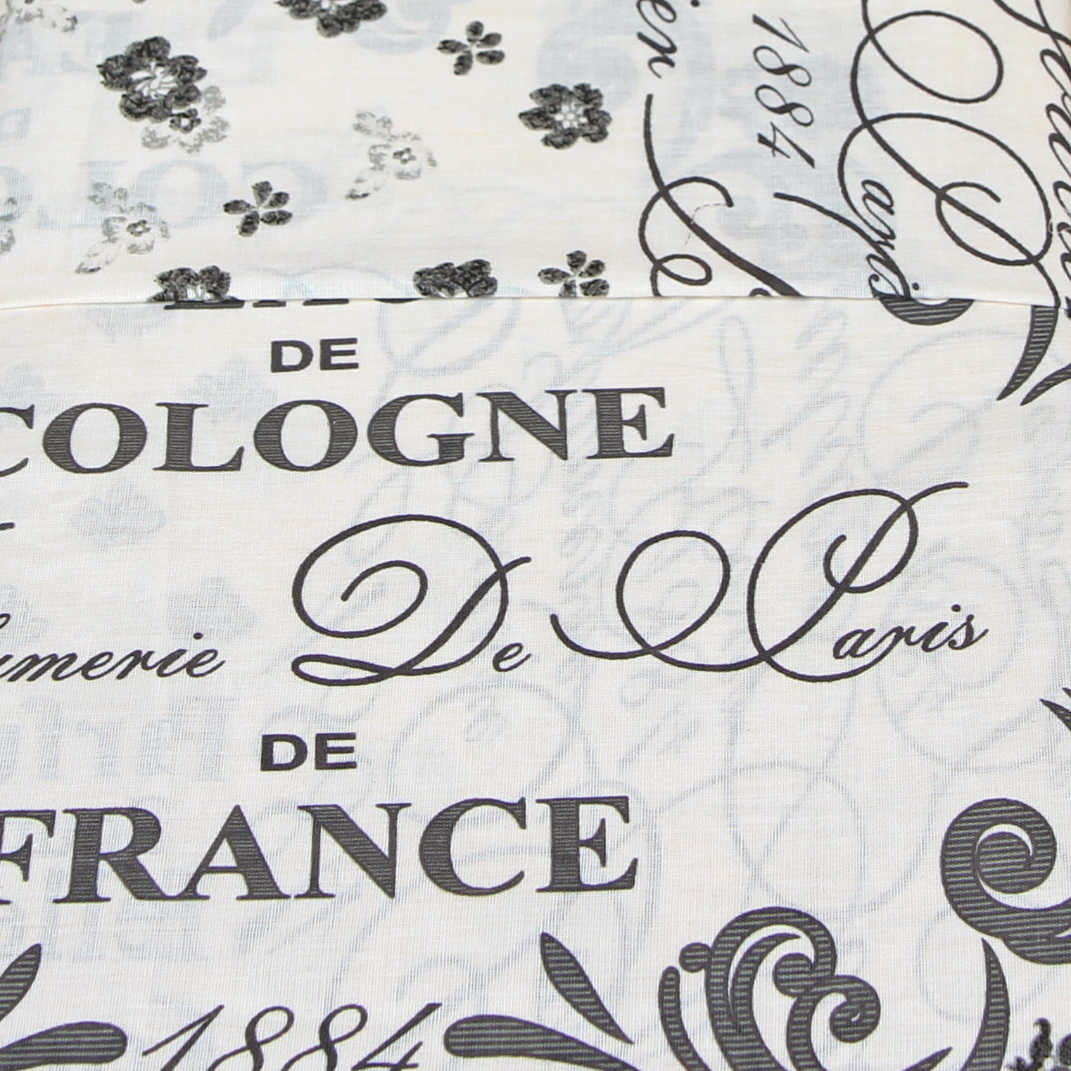 Modern Amp Stylish Eau De Cologne Duvet Cover Set With French Script