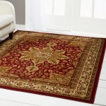Details About Red Burgundy Oriental Area Rug 5x5 Round Persien 83 Actual 5 2 X 5 2