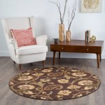 Details About Brown Casual Floral Vines Area Rug Transitional Ivory Green Blue Paisley Carpet