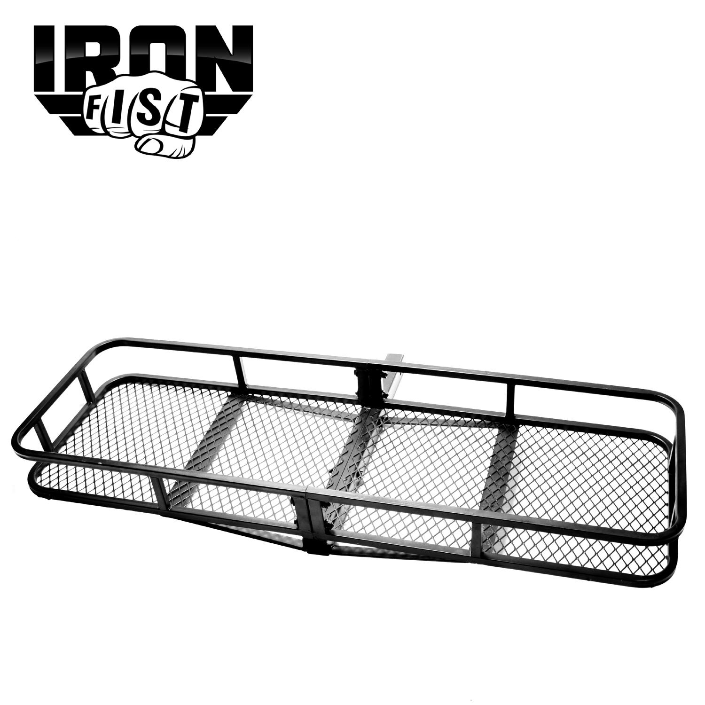 Iron Fist 60 Folding Cargo Carrier Basket Hitch Hauler