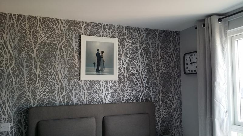Woodland Wallpaper Trees Abstract Metallic Modern Grey Silver Paste The Wall 4251105494492 EBay