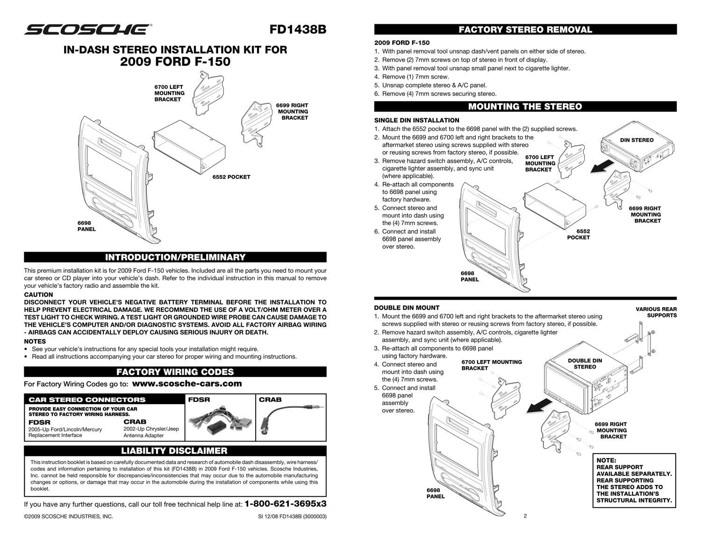 Metra 99 B Car Radio Stereo Cd Player Dash Install Mounting Trim Bezel Kit