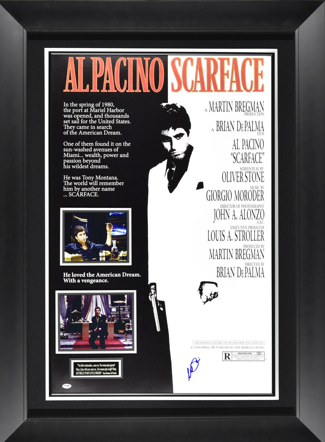 scarface poster signed by al pacino framed 36 49