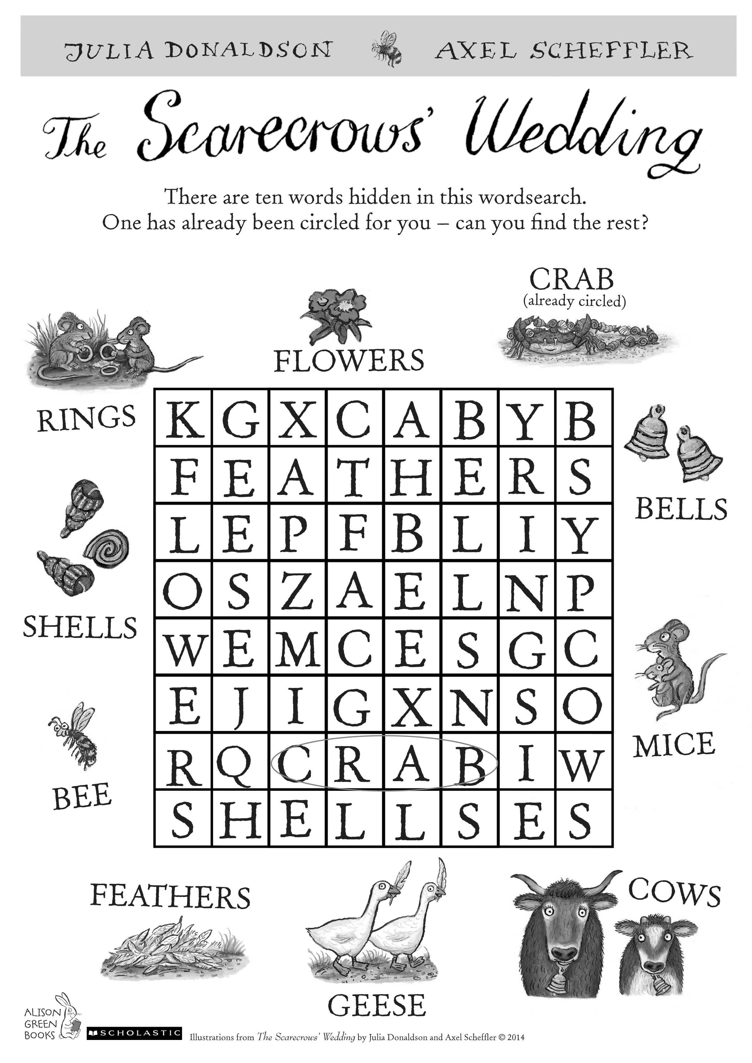 The Scarecrows Wedding Wordsearch