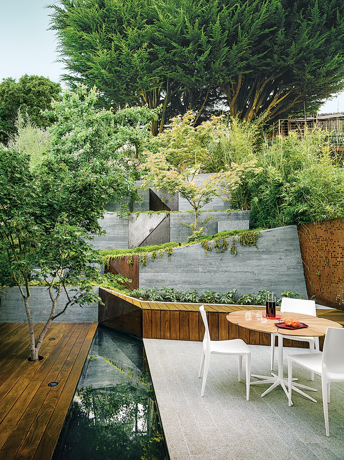 An Architect Sculpts Out a Tadao Ando-Inspired Backyard ... on Open Backyard Ideas id=55175