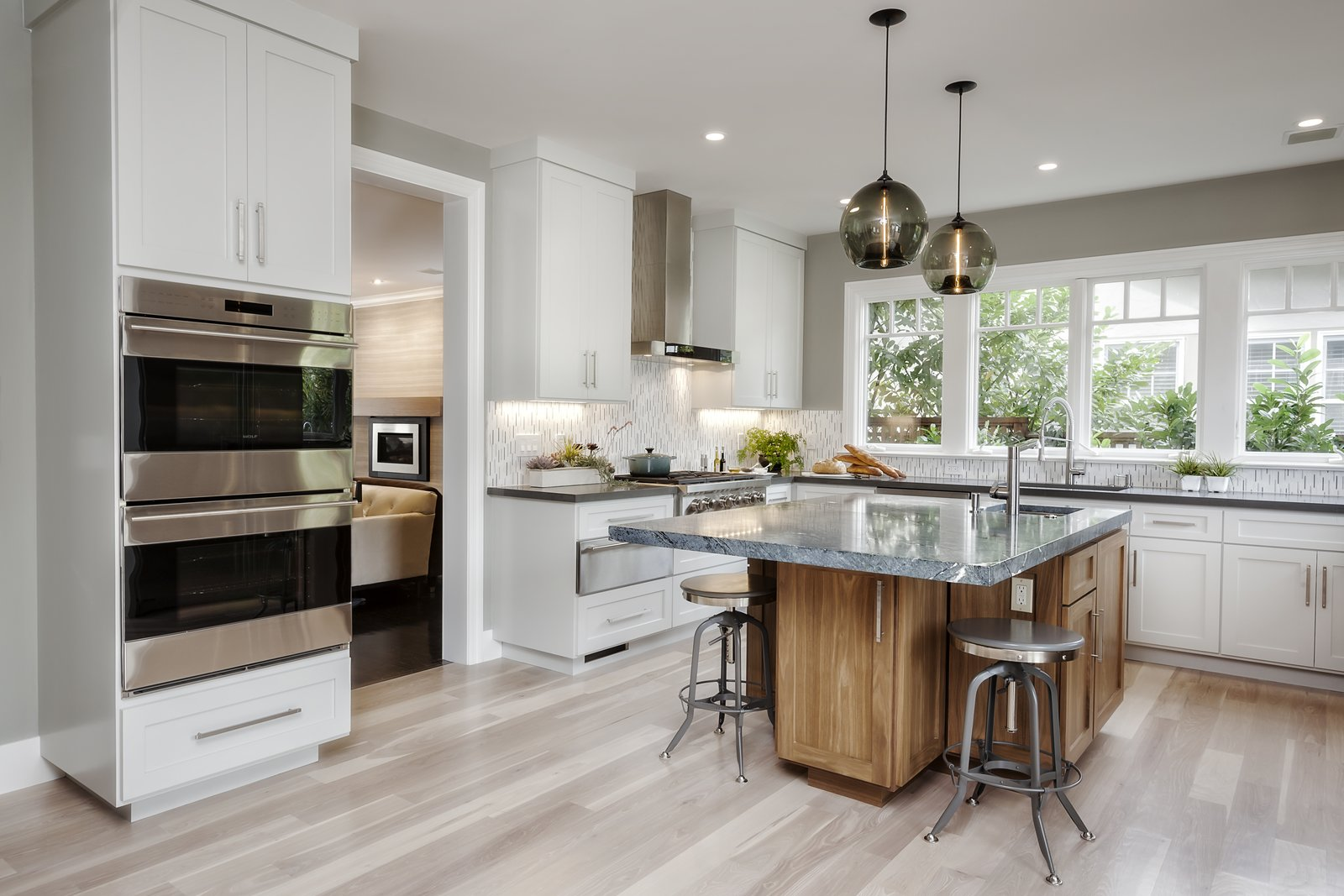Contemporary Kitchen Island Pendants Spotted in California ... on Images Of Modern Kitchens  id=83846
