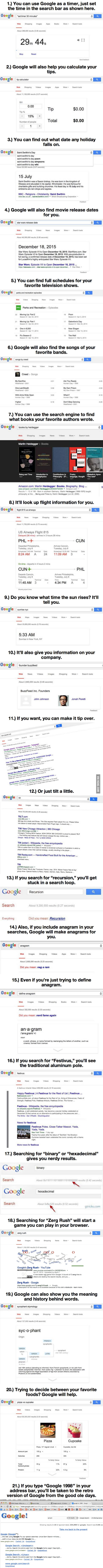After You Learn These 21 Google Tricks, The Internet Will Never Be The Same.