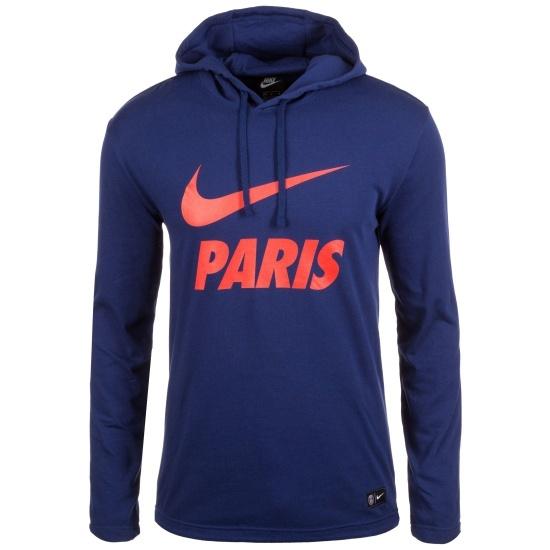 nike paris saint germain hoodie blau rot