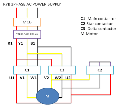 Wiring Diagram Of Star Delta Starter: 3 Phase Motor Star Delta Connection - impremedia.net,Design