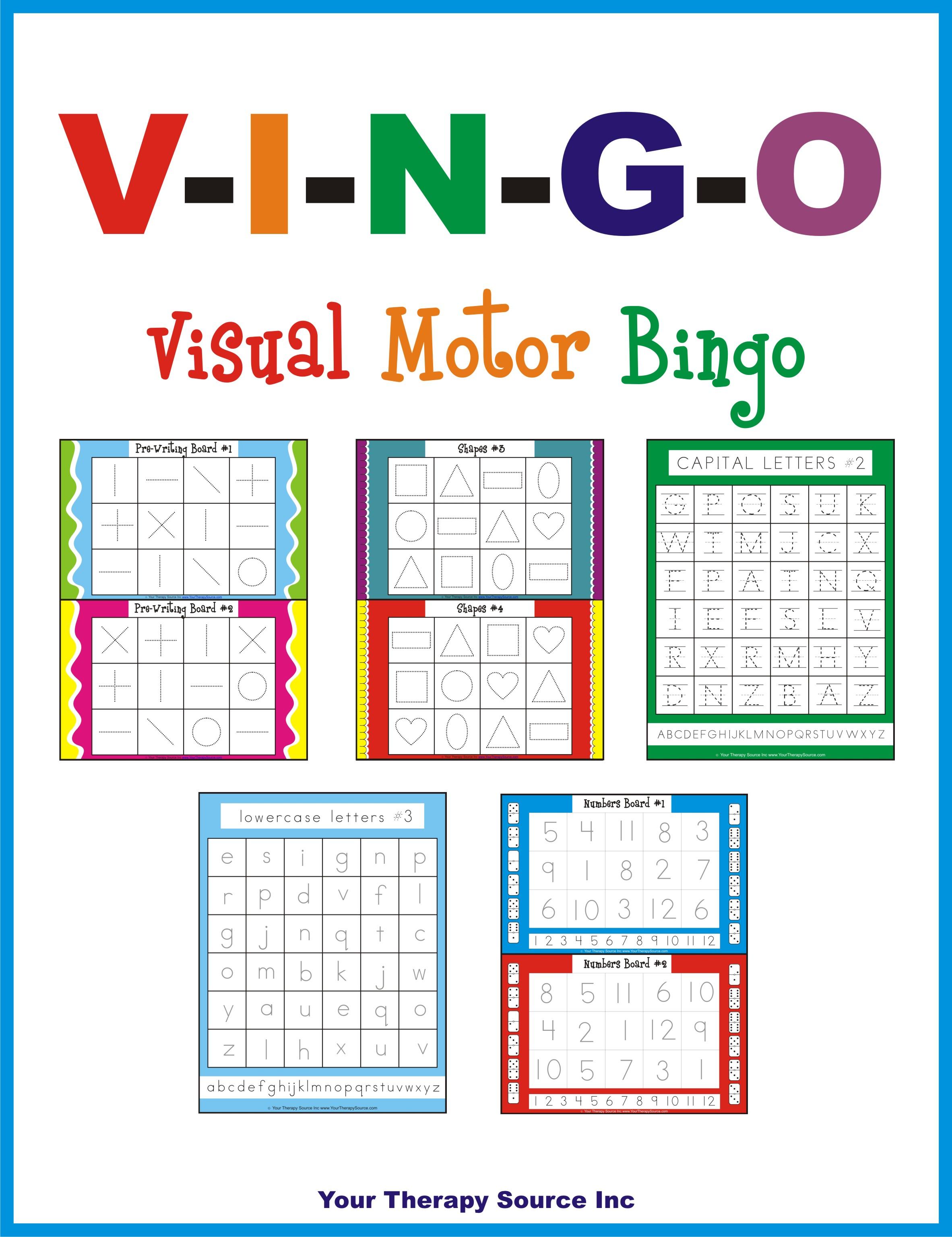 V I N G O Visual Motor Bingo