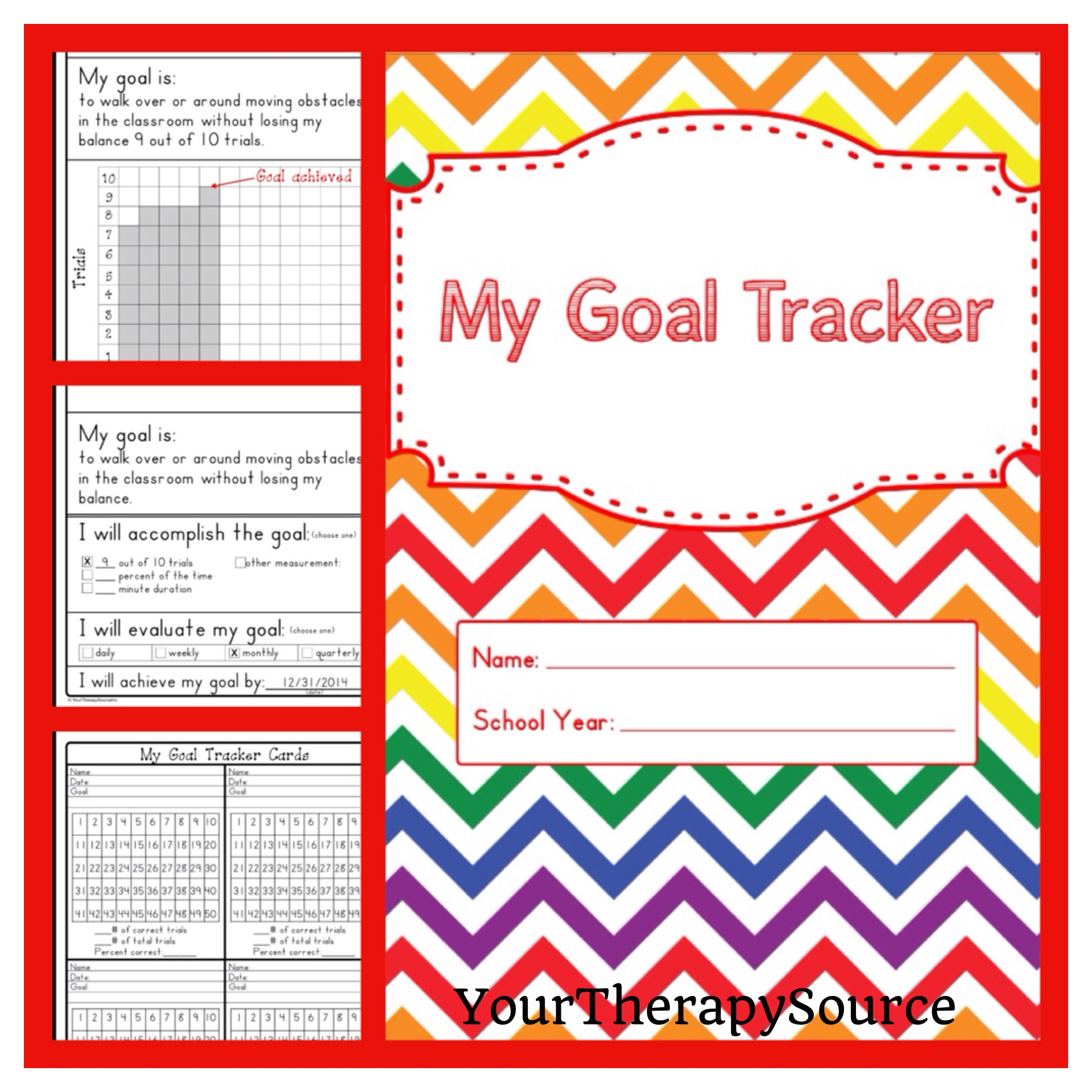 My Goal Tracker Student Generated Data Collection Your
