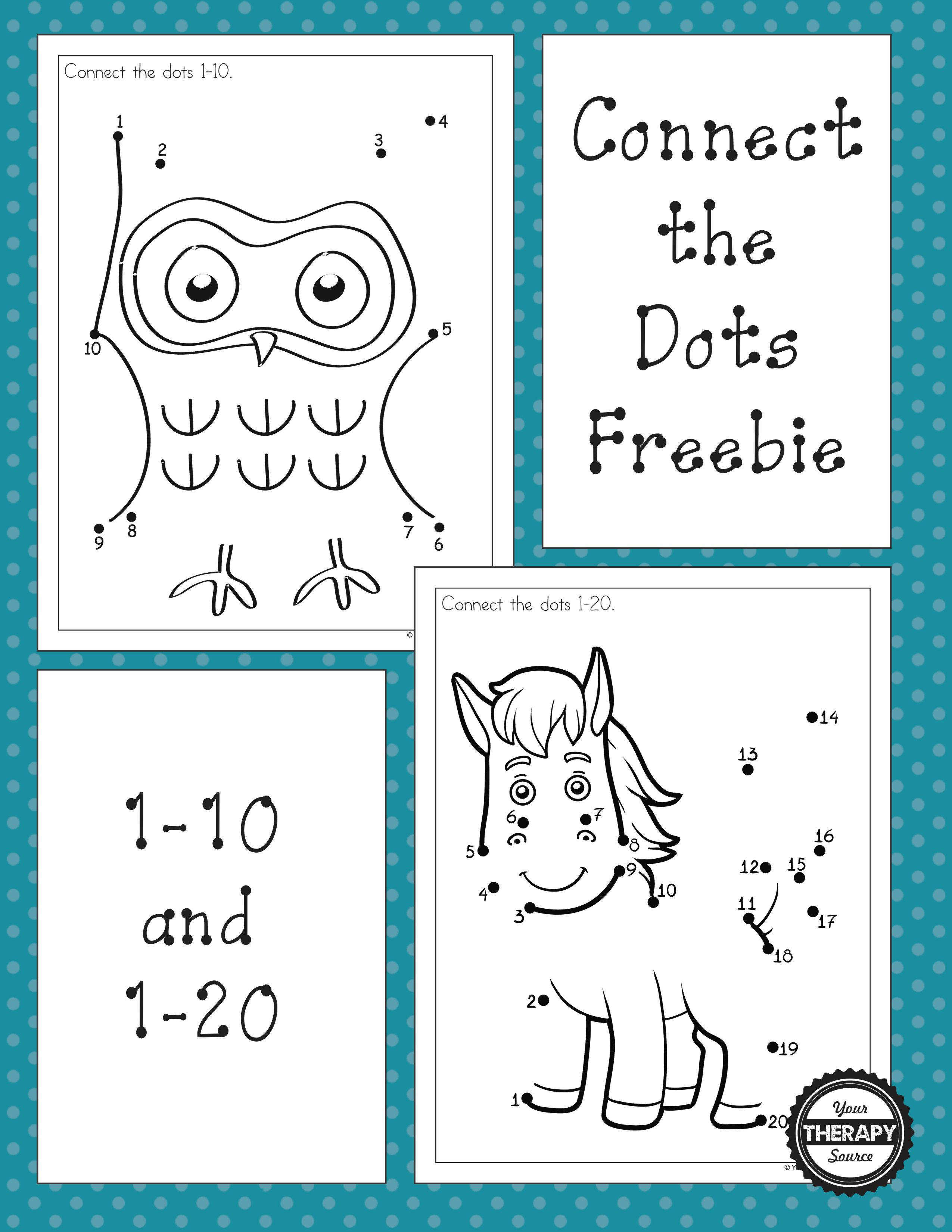 Dot To Dot 1 10 And 1 20 Freebies