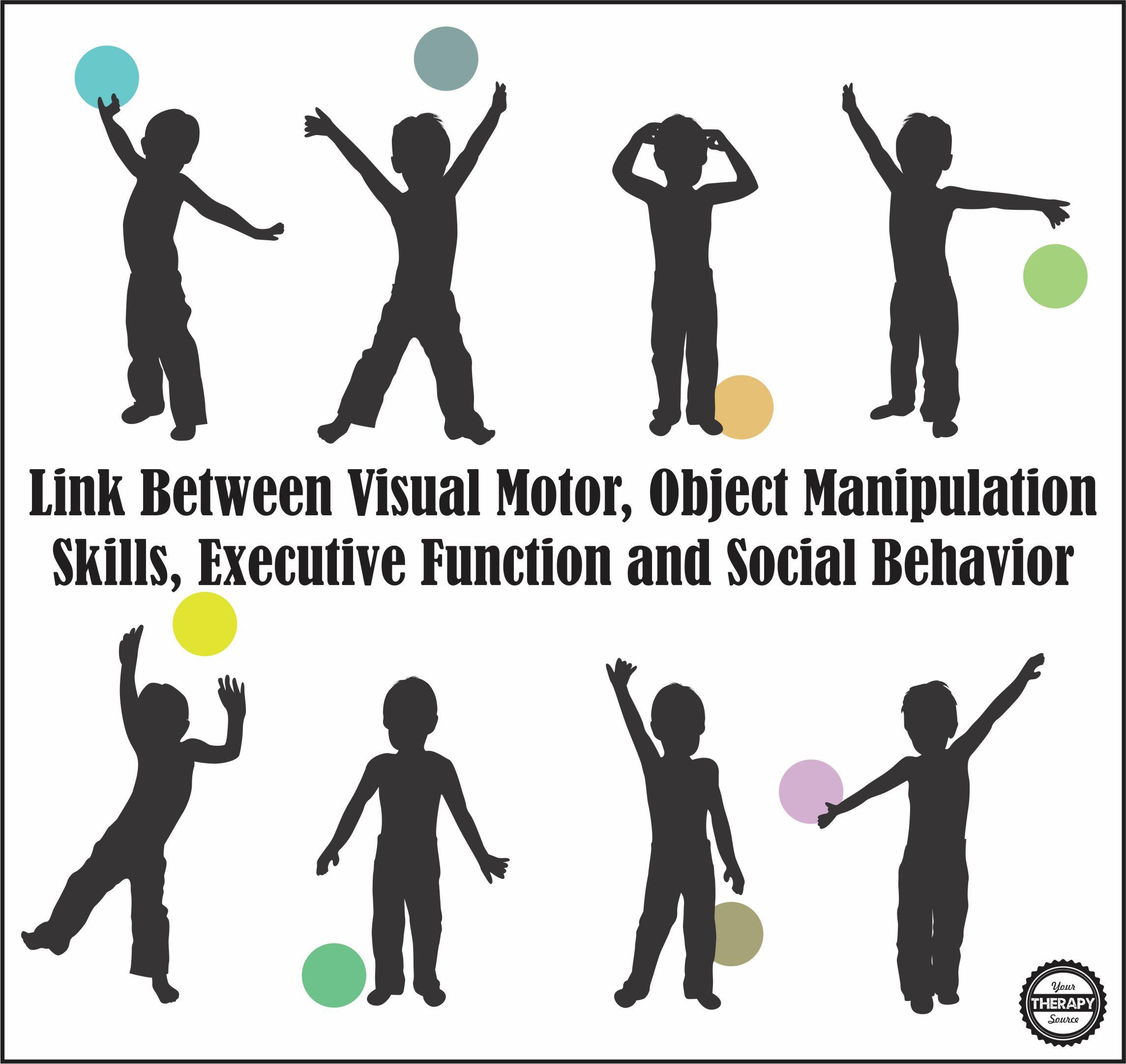 Link Between Visual Motor Object Manipulation Skills