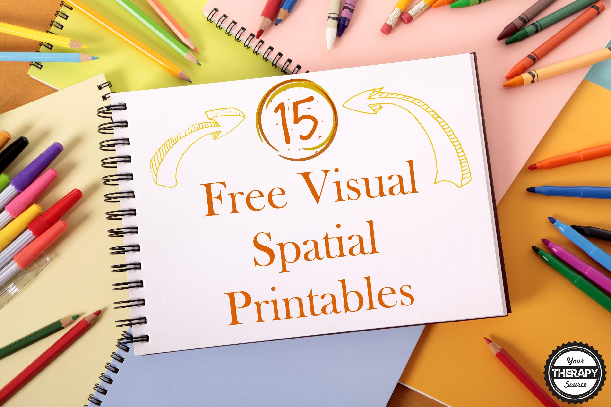 15 Free Visual Spatial Printables