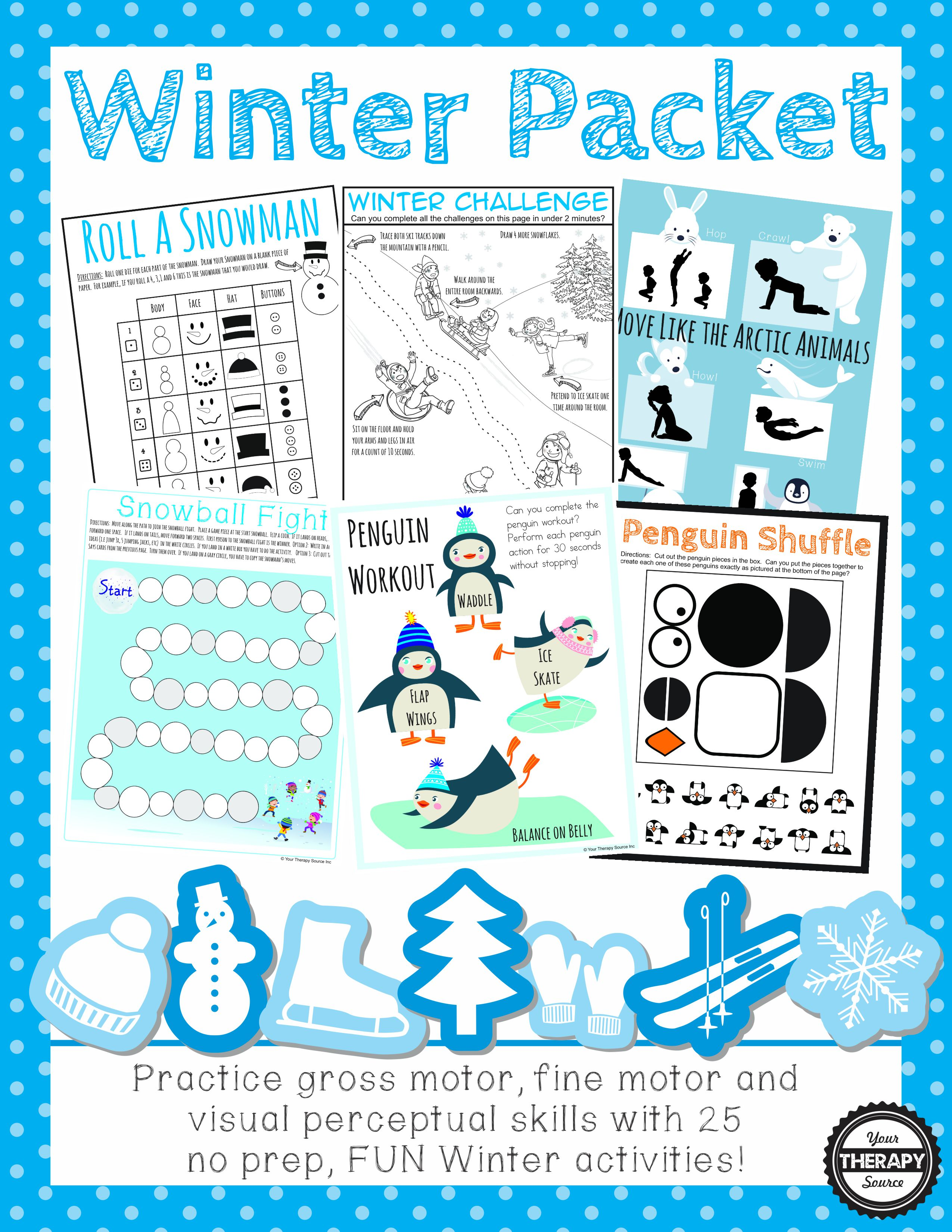 Winter Packet Fine Gross And Visual Motor