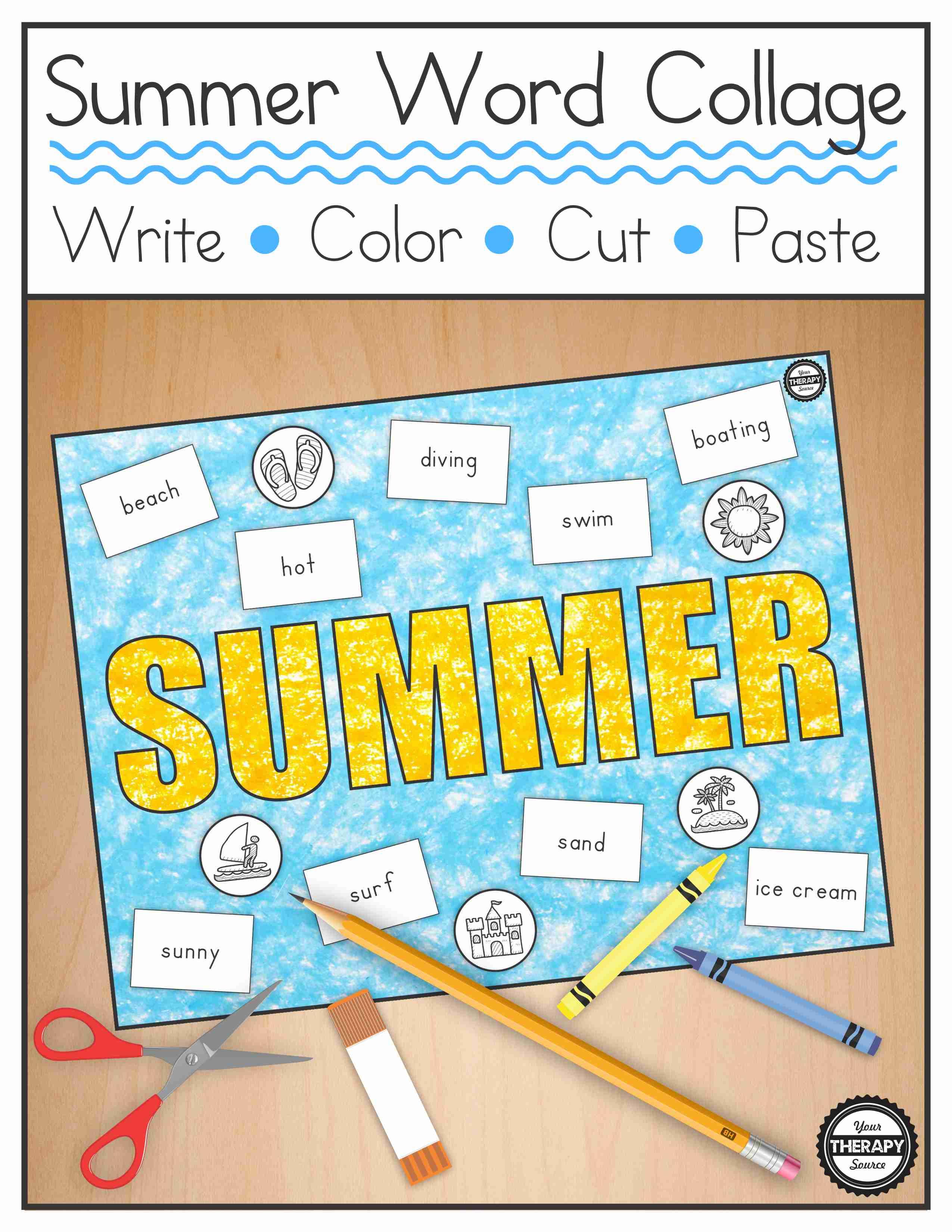 Summer Word Collage