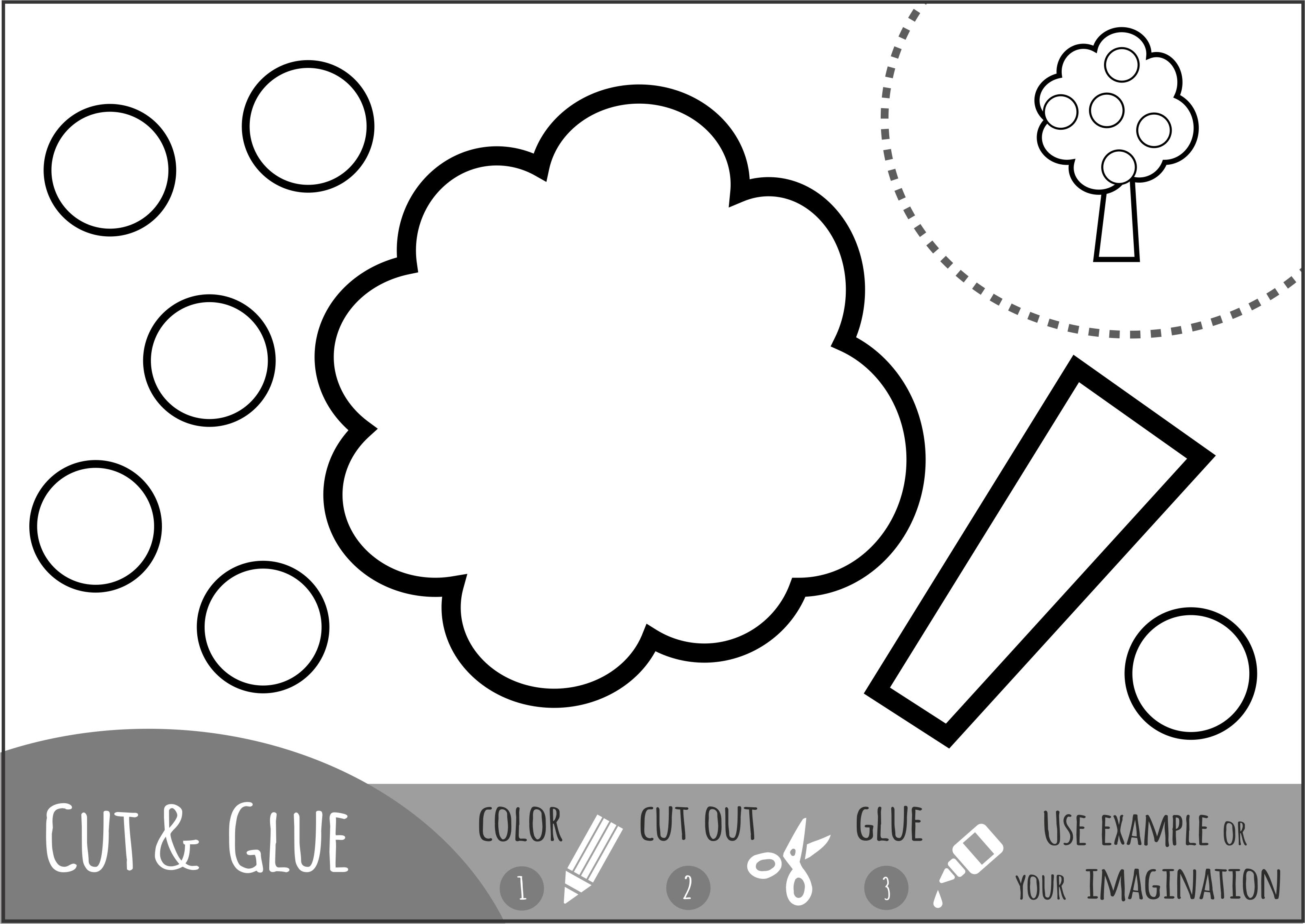 Color Cut And Glue Scissor Skill Practice For Fall 2