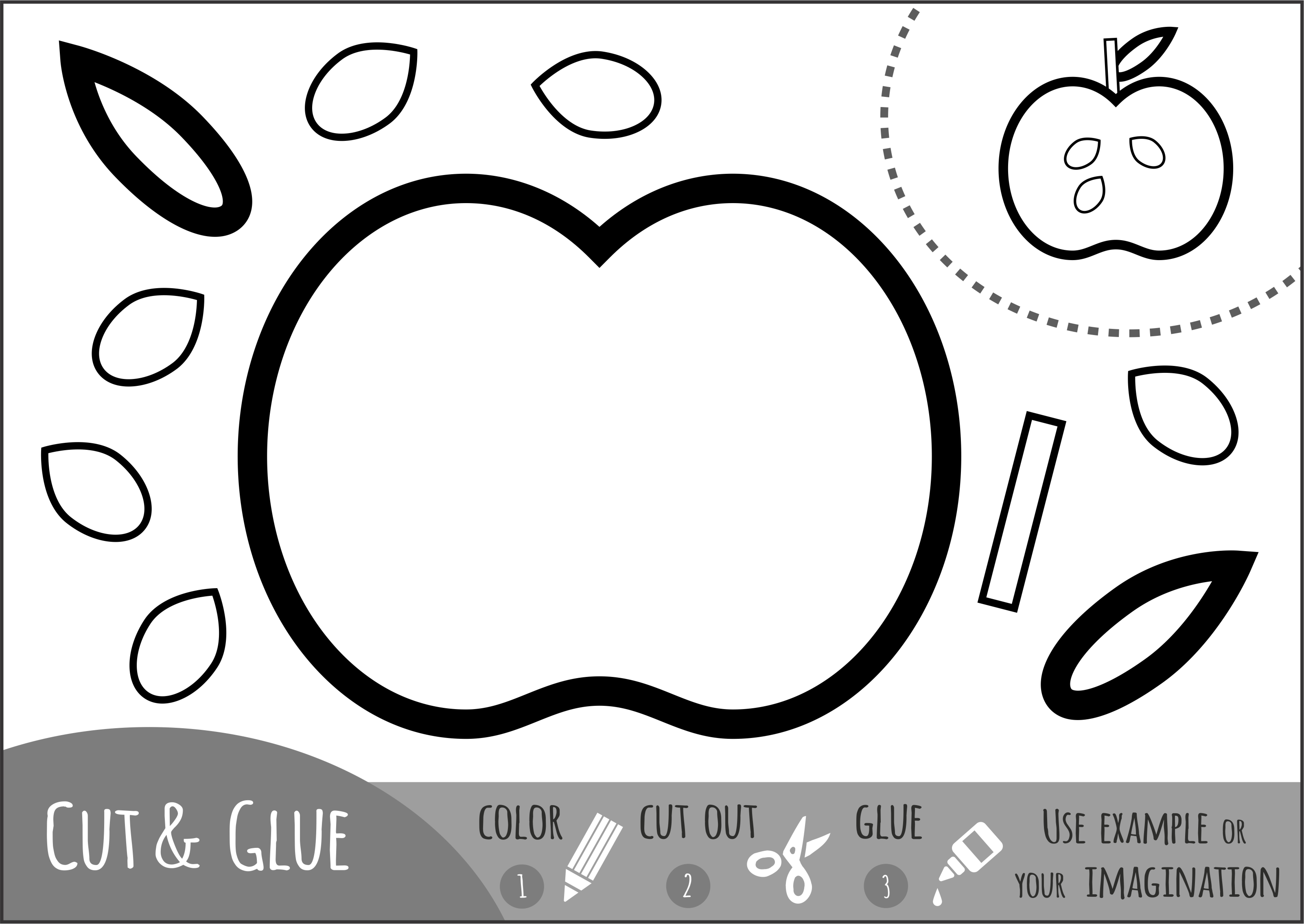Color Cut And Glue Scissor Skill Practice For Fall 3
