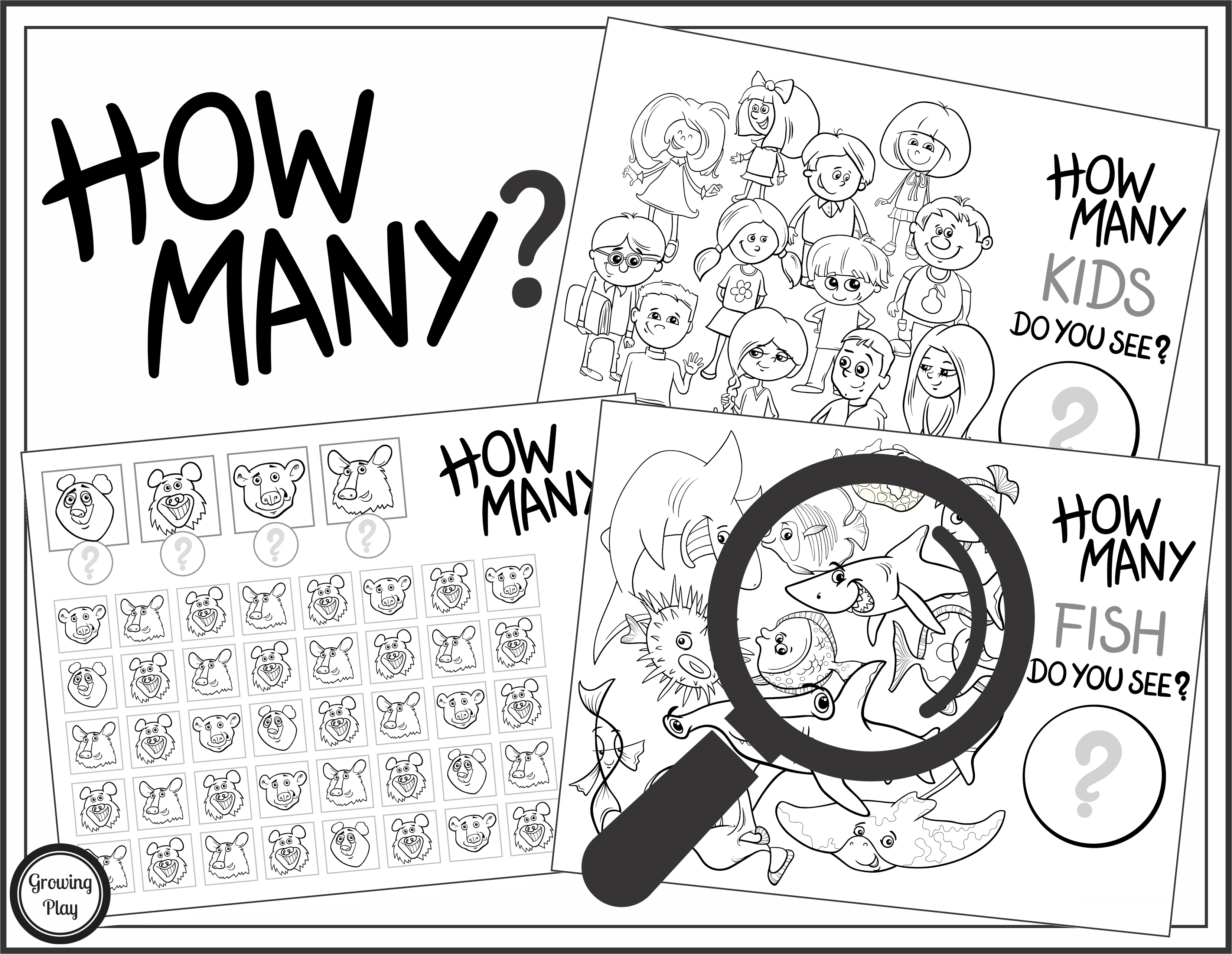 How Many Do You See Counting Visual Discrimination And Visual Spatial Activity