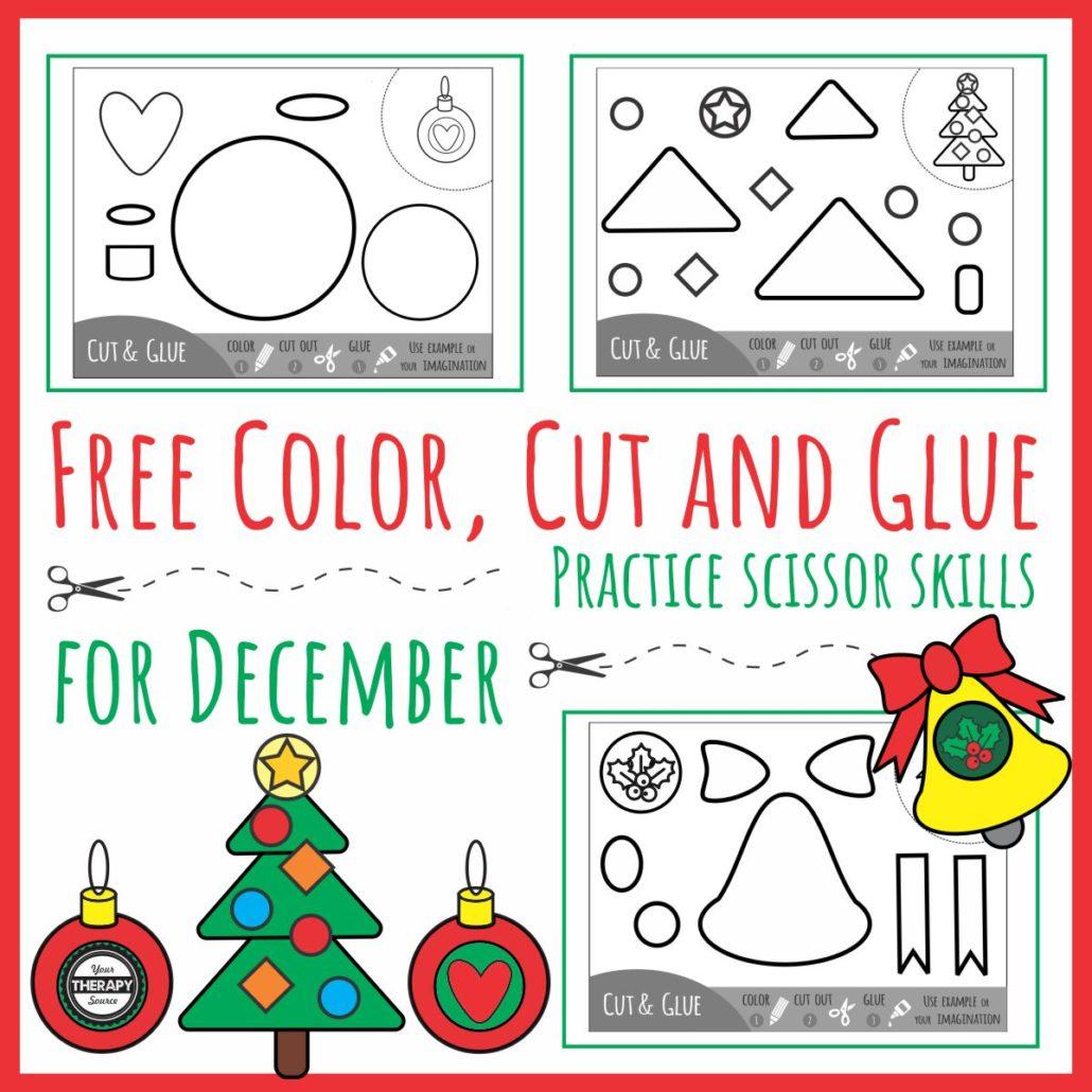 Color Cut Glue For December