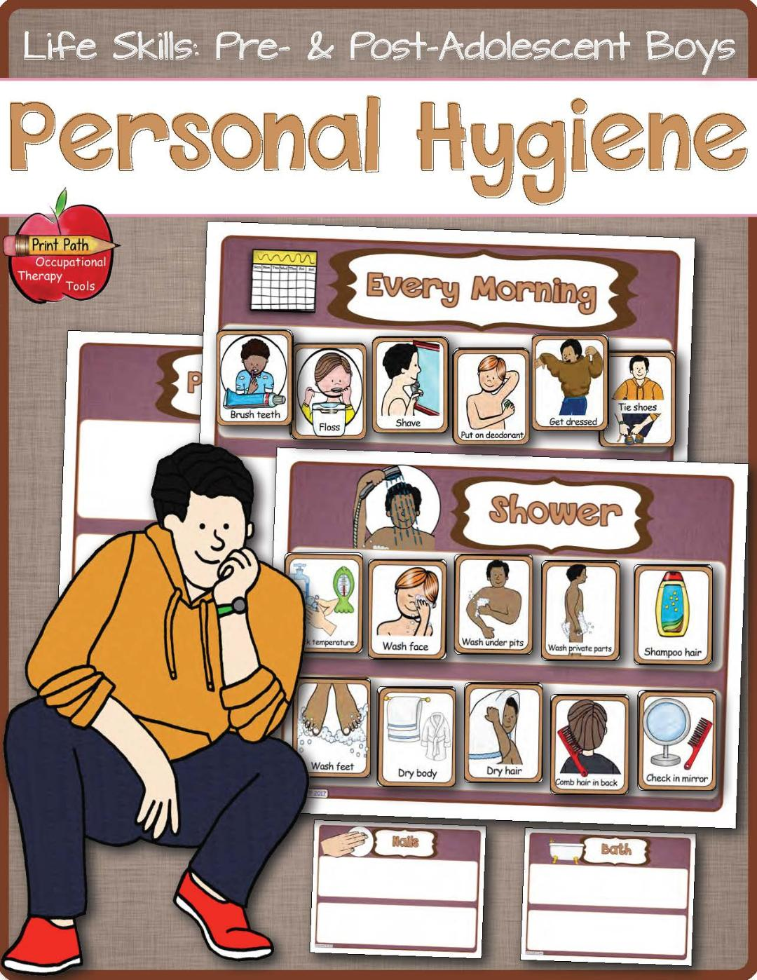 Personal Hygiene Visual Schedules And Support Boys And