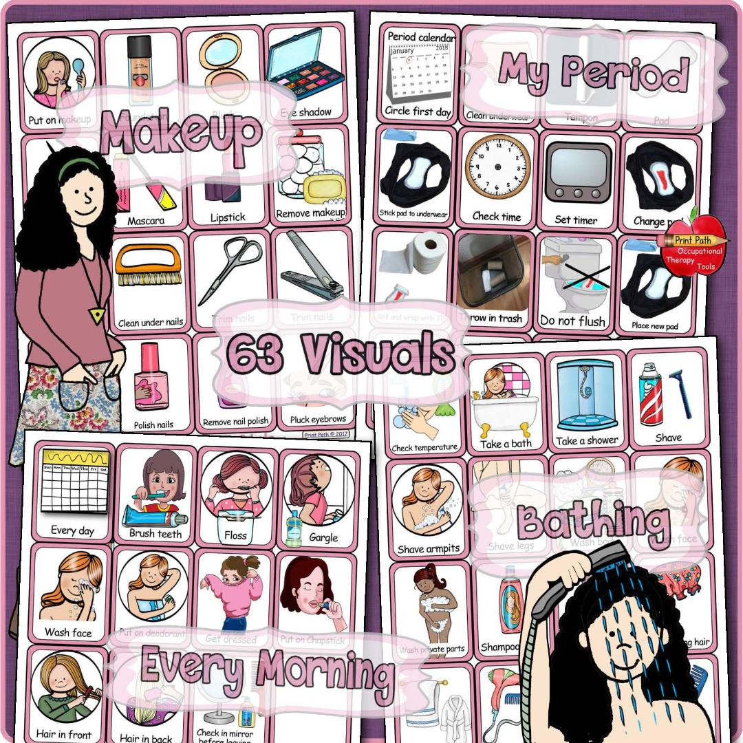 Personal Hygiene Visual Schedules And Support Boys And Girls