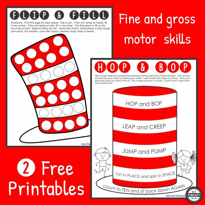 Free Dr Seuss Printables Your Therapy Source