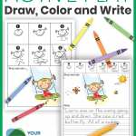 Directed Drawings Draw Color And Write Active Play Theme Your Therapy Source