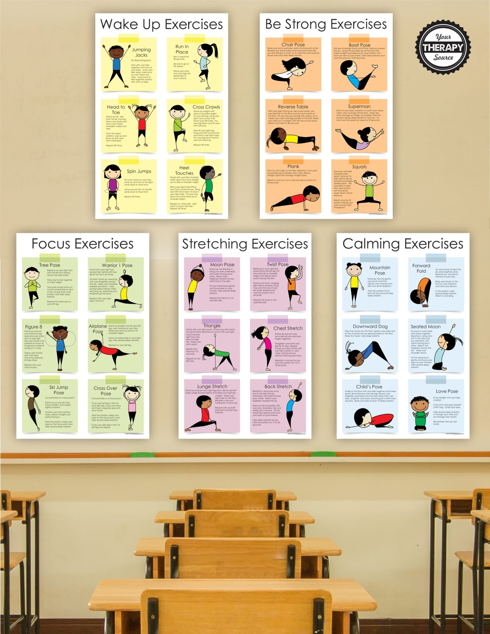 Exercise Posters For Kids