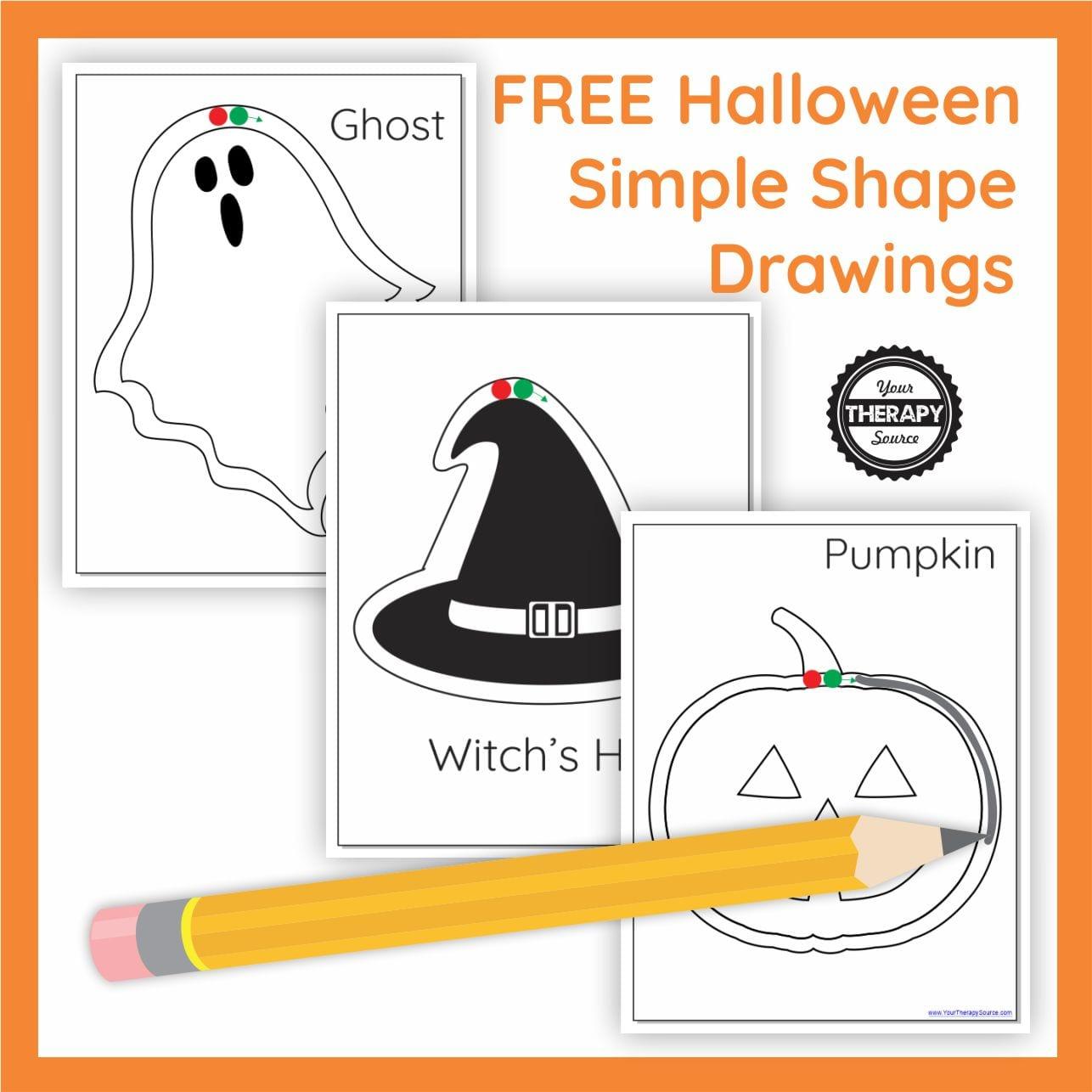 Halloween Simple Shape Drawings Free