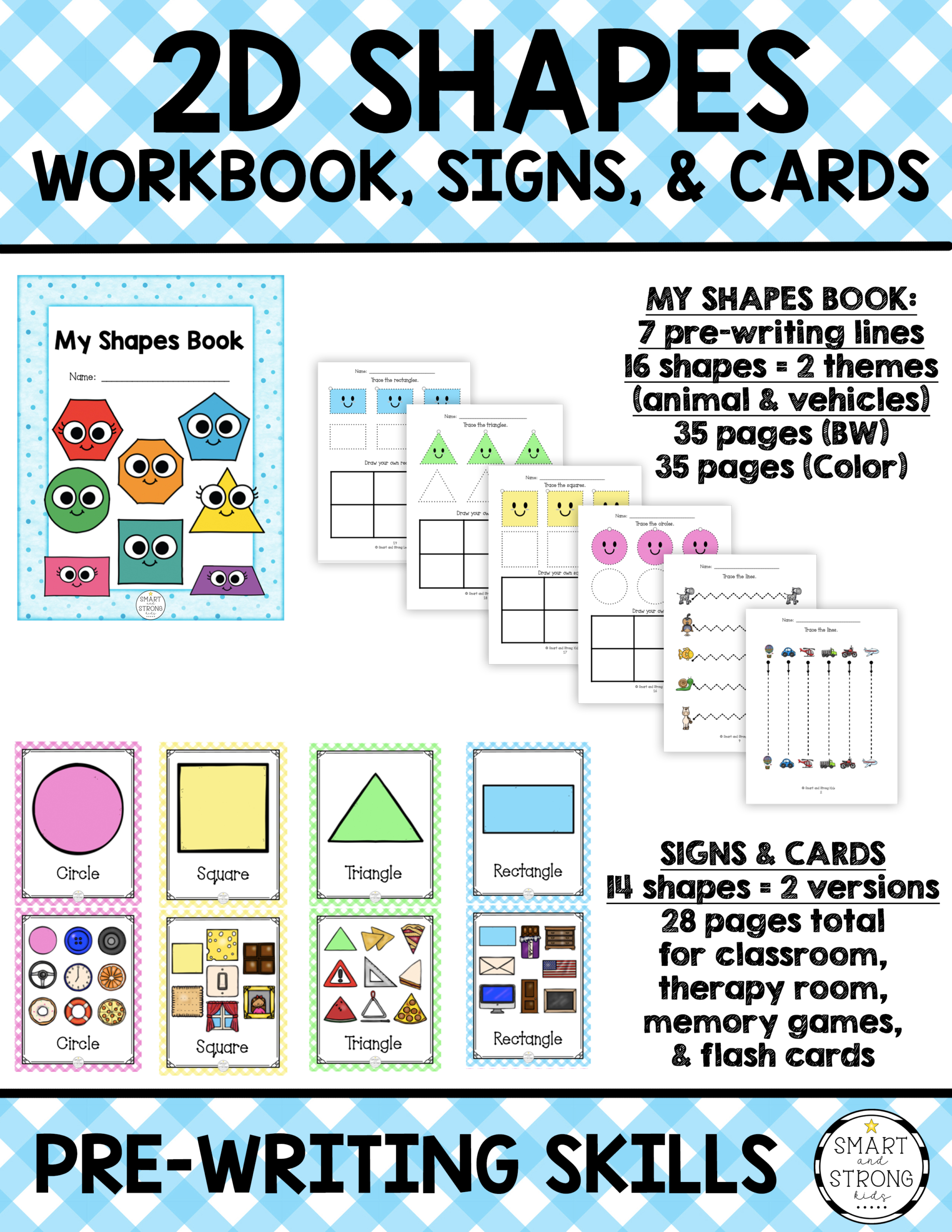 2d Shapes Worksheets Signs And Cards
