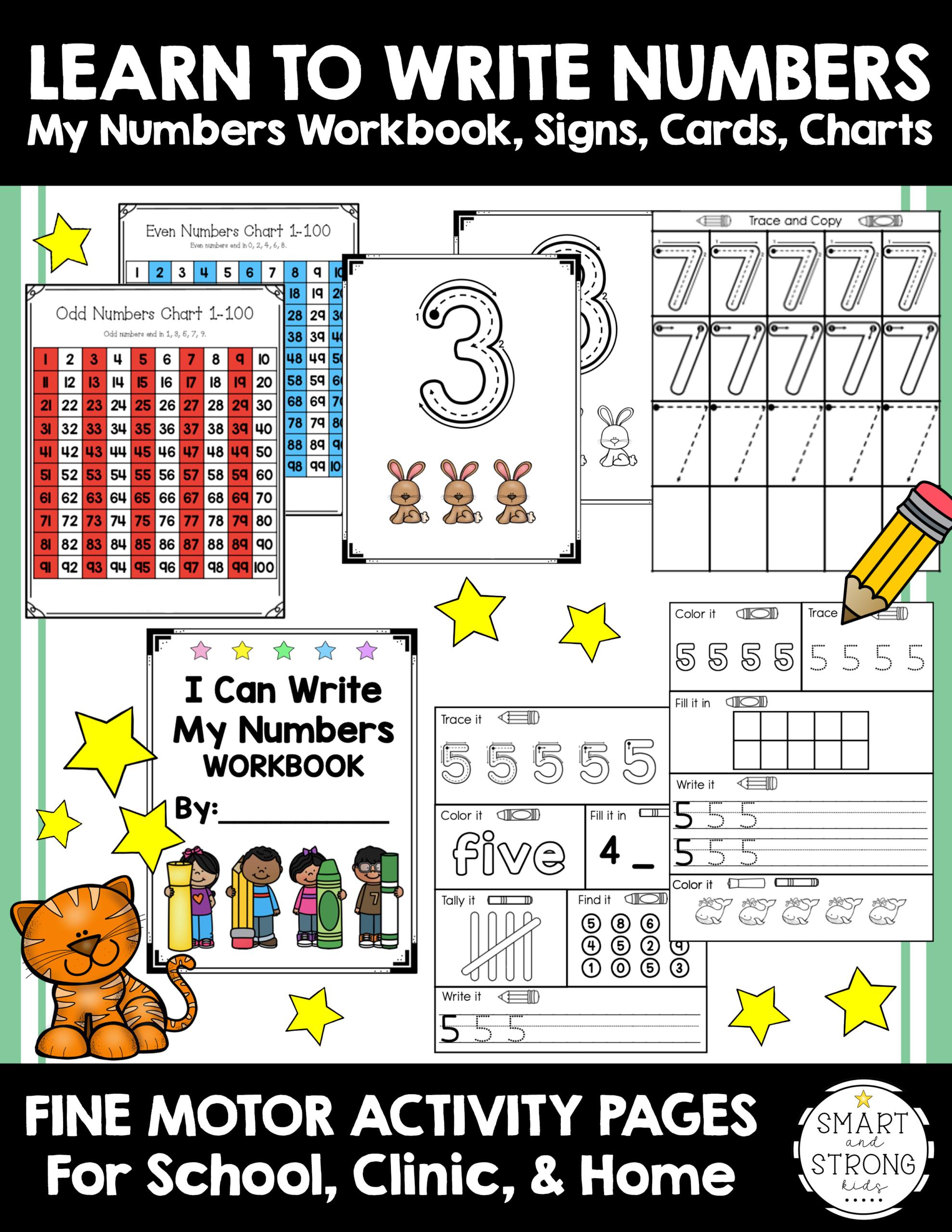 Writing Numbers Worksheets 1 20