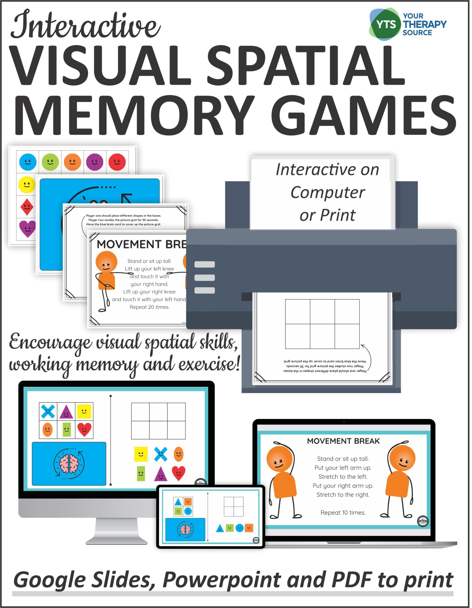 Visual Spatial Memory Games